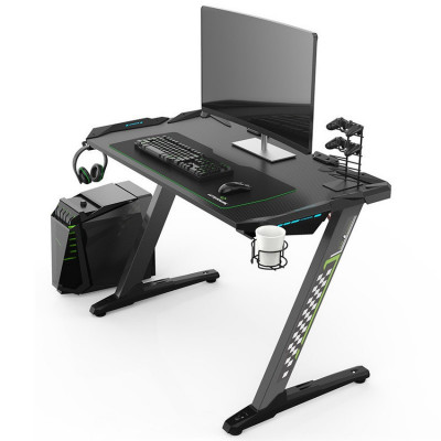 Ultradesk SPACE bureau gamer multi-outils à LED Noir
