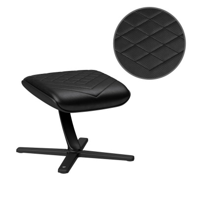 Noblechairs repose-jambes en similicuir coutures noires