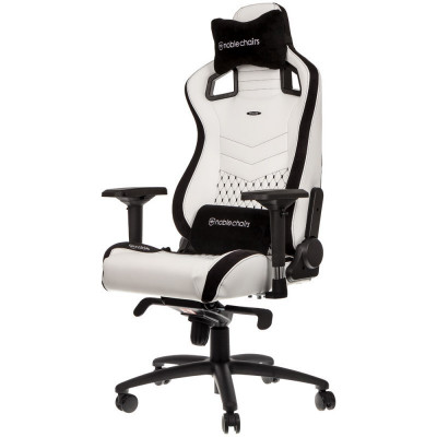 Noblechairs EPIC chaise gaming luxe en similicuir blanc
