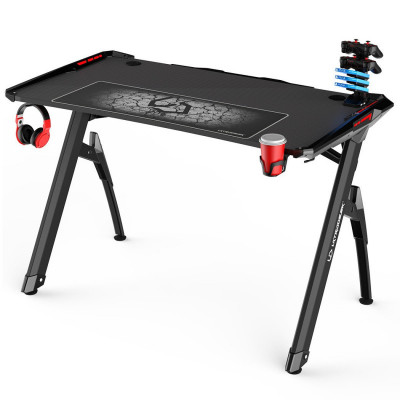 Ultradesk INVADER bureau gamer multi-outils à LED - Noir