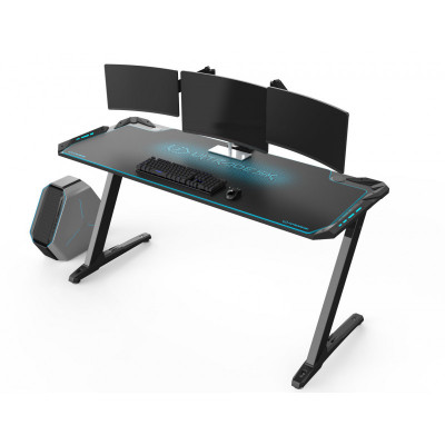 Ultradesk SPACE XXL grand bureau gamer à LED Bleu