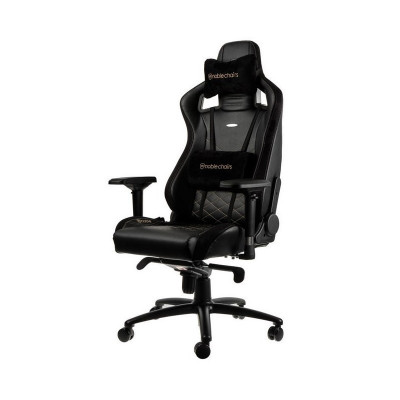 Noblechairs EPIC chaise gaming luxe en similicuir or