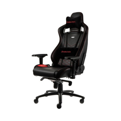 Noblechairs EPIC chaise gaming luxe en similicuir (M, L) - Rouge