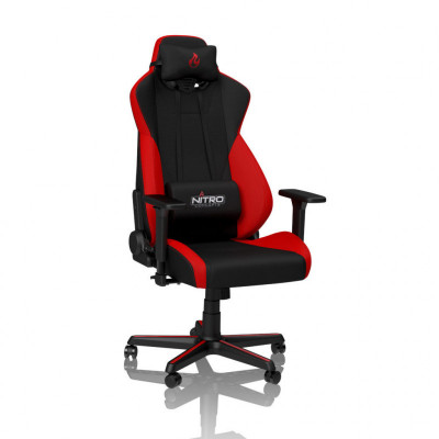 Nitro-Concepts S300 chaise gaming tissu (S, M, L, XL) - Rouge