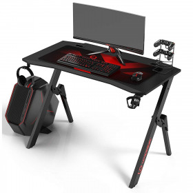 Ultradesk ACTION bureau gamer multi-outils à LED Noir