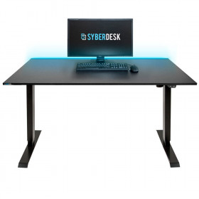 Syberdesk ELECTRIC PRO LED Bureau assis/debout Noir