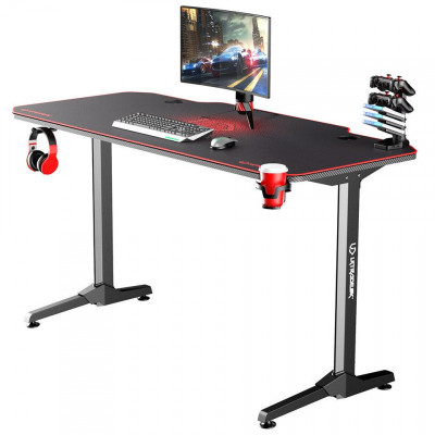 Ultradesk ACTION bureau gamer multi-outils à LED Rouge